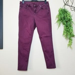 Lane Bryant   Super Stretch Plum Skinny Jeans